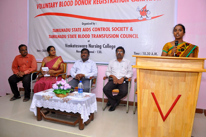 Voluntary Blood Donor Registration Campaign Inauguration organized by TN State Aids Control Society and TN State Blood Transfusion Council at VNC,  on 28 Sep 2016